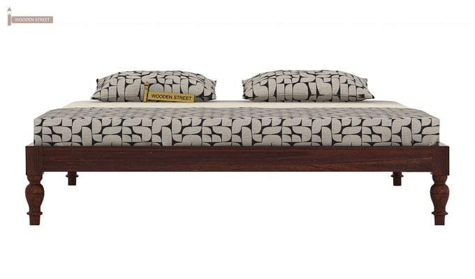 Trae Bed Without Storage (King Size, Walnut Finish)-4