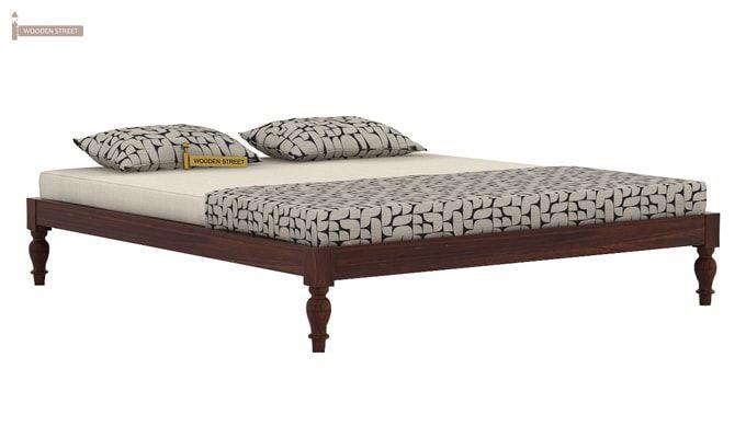 Trae Bed Without Storage (King Size, Walnut Finish)-3