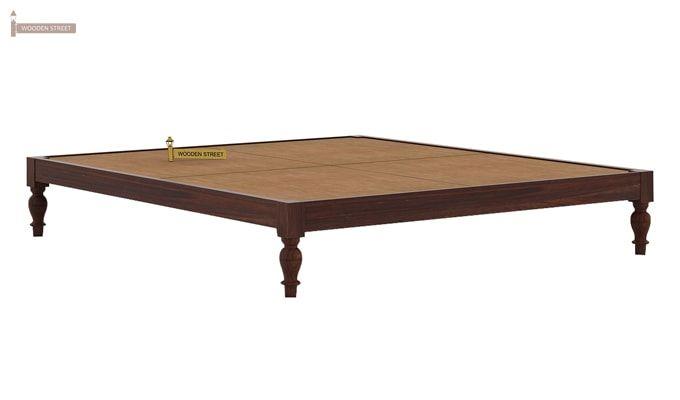 Trae Bed Without Storage (King Size, Walnut Finish)-5