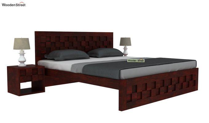 Travis Bed Without Storage (King Size, Mahogany Finish)-2