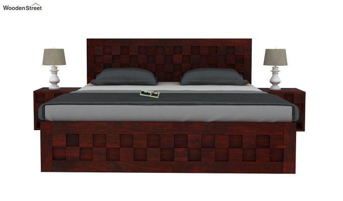 Travis Bed Without Storage (King Size, Mahogany Finish)-3