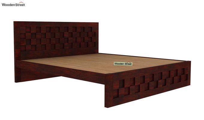 Travis Bed Without Storage (King Size, Mahogany Finish)-4