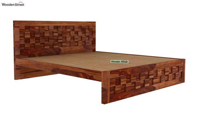 Travis Bed Without Storage (King Size, Teak Finish)-4