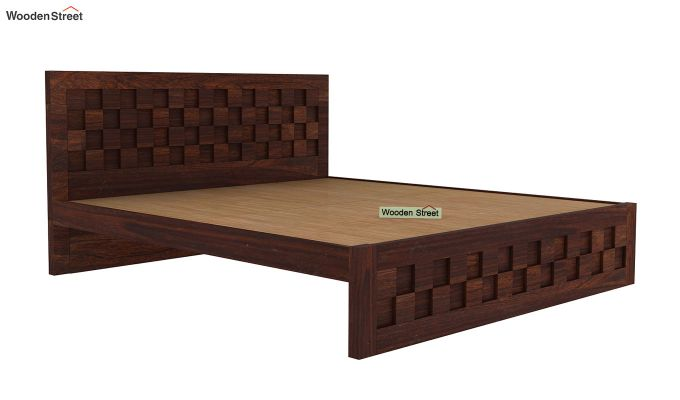 Travis Bed Without Storage (King Size, Walnut Finish)-4