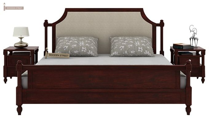 Ventur Bed Without Storage (King Size, Mahogany Finish)-3