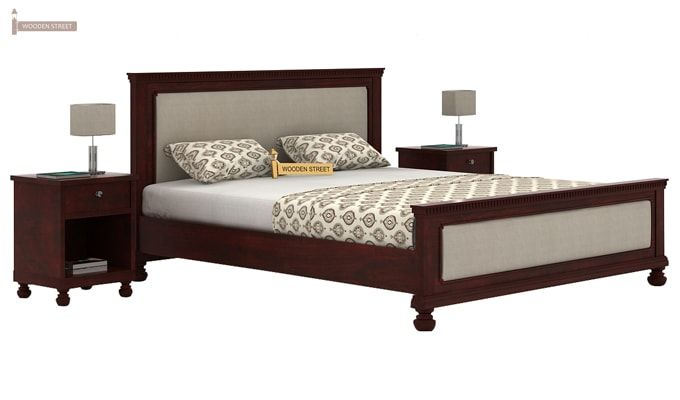 Volgan Bed Without Storage (King Size, Mahogany Finish)-2