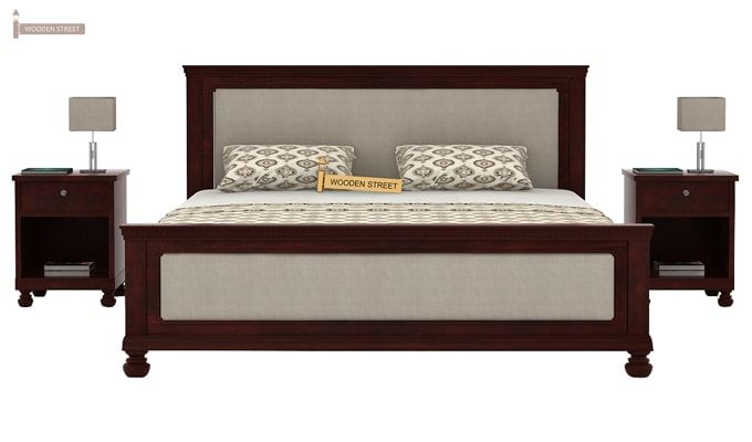 Volgan Bed Without Storage (King Size, Mahogany Finish)-3