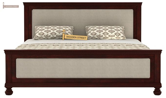 Volgan Bed Without Storage (King Size, Mahogany Finish)-5