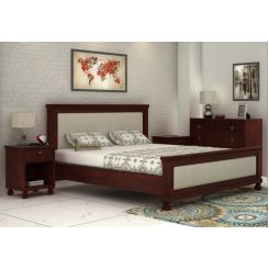 Volgan Bed Without Storage (King Size, Mahogany Finish)