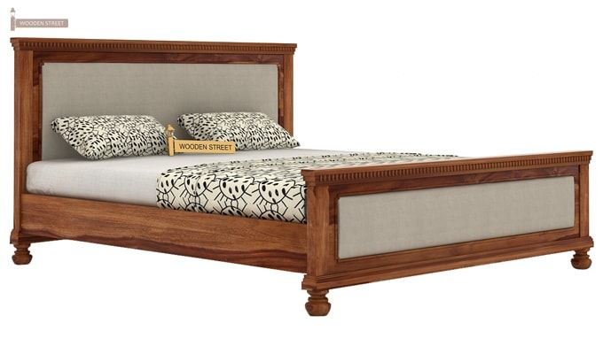Volgan Bed Without Storage (King Size, Teak Finish)-3