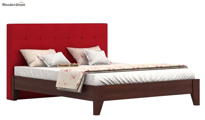 Wagner Upholstered Bed Without Storage (Queen Size, Dusky Rose)-2