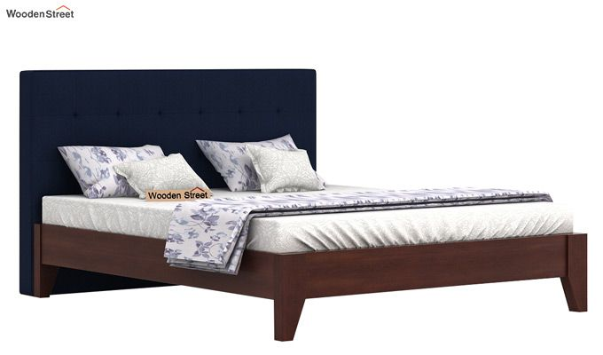 Wagner Upholstered Bed Without Storage (Queen Size, Indigo Ink)-2