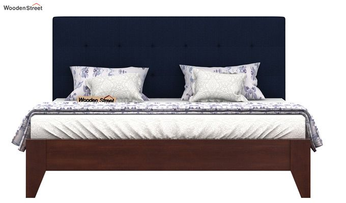 Wagner Upholstered Bed Without Storage (Queen Size, Indigo Ink)-3