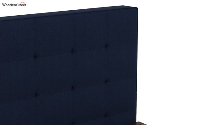 Wagner Upholstered Bed Without Storage (Queen Size, Indigo Ink)-4