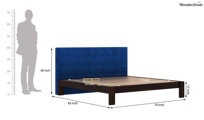 Wagner Upholstered Bed Without Storage (King Size, Indigo Blue)-6