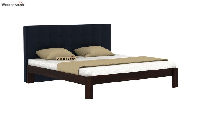 Wagner Upholstered Bed Without Storage (King Size, Indigo Ink)-2