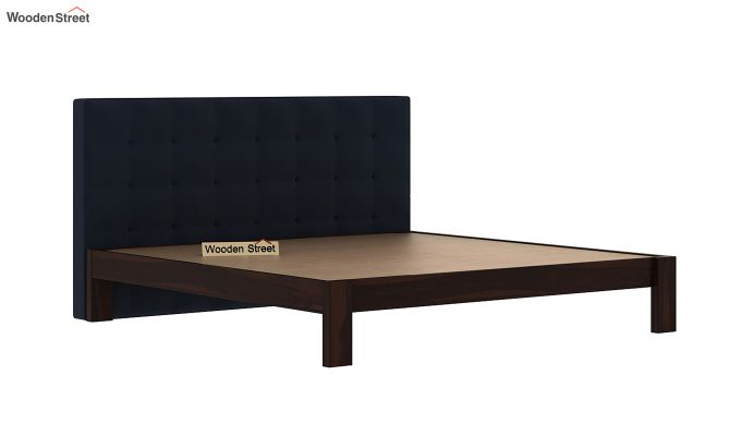 Wagner Upholstered Bed Without Storage (King Size, Indigo Ink)-4