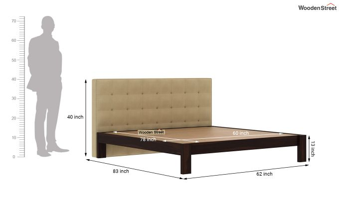 Wagner Upholstered Bed Without Storage (Queen Size, Irish Cream)-6