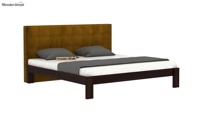 Wagner Upholstered Bed Without Storage (King Size, Chestnut Brown)-2