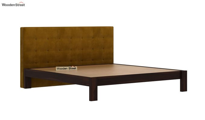 Wagner Upholstered Bed Without Storage (King Size, Chestnut Brown)-4