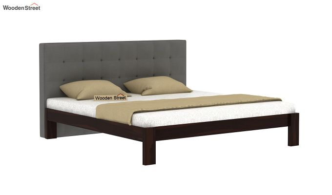 Wagner Upholstered Bed Without Storage (Queen Size, Warm Grey)-2