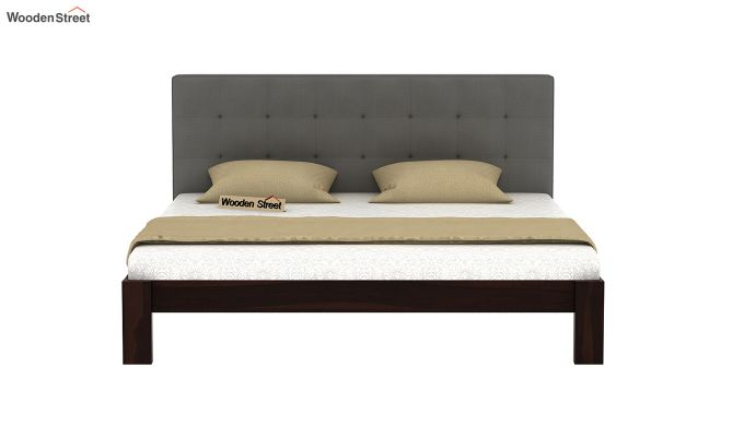 Wagner Upholstered Bed Without Storage (Queen Size, Warm Grey)-3
