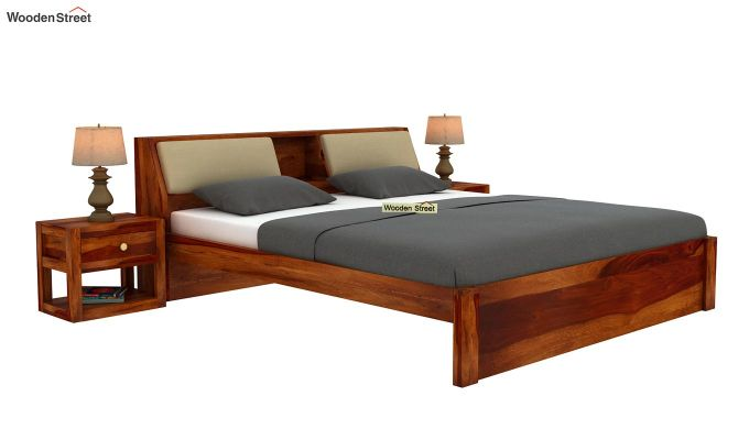 Walken Bed Without Storage (King Size, Honey Finish)-2