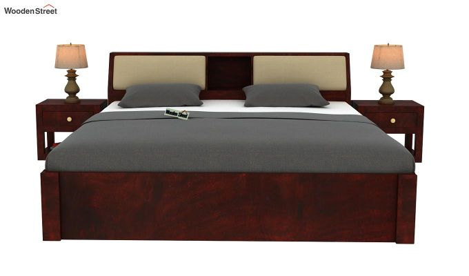 Walken Bed Without Storage (King Size, Mahogany Finish)-3