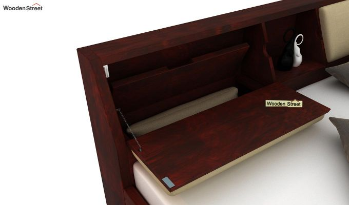 Walken Bed Without Storage (King Size, Mahogany Finish)-5