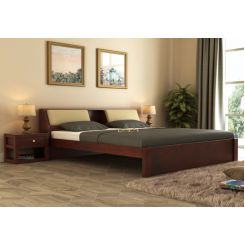 Walken Bed Without Storage (Queen Size, Mahogany Finish)