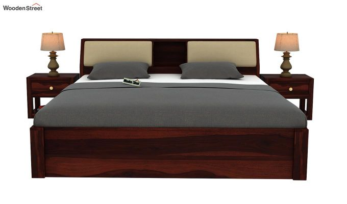 Walken Bed Without Storage (Queen Size, Walnut Finish)-3