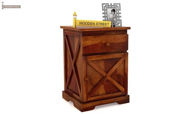 Warner Bedside Table (Honey Finish)-2