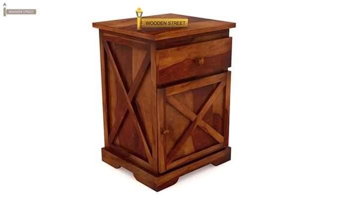 Warner Bedside Table (Honey Finish)-3