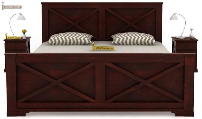 Warner Bed Without Storage (King Size, Mahogany Finish)-2