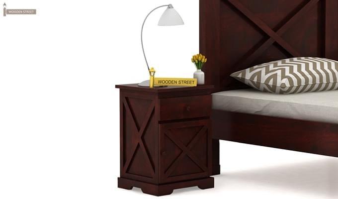 Warner Bedside Table (Mahogany Finish)-1