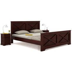 Warner Bed Without Storage (King Size, Mahogany Finish)