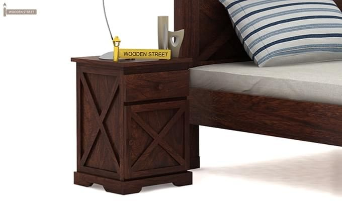 Warner Bedside Table (Walnut Finish)-1