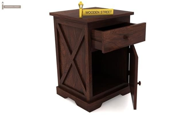 Warner Bedside Table (Walnut Finish)-5