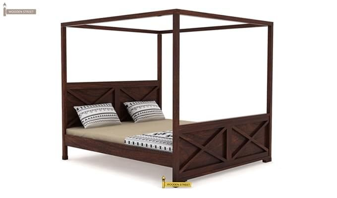 Warner Poster Bed Without Storage (King Size, Walnut Finish)-3
