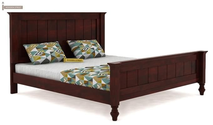 Willock Bed Without Storage (Queen Size, Mahogany Finish)-4