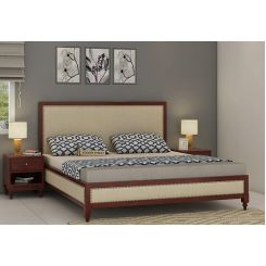 Winston Bed Without Storage (King Size, Mahogany Finish)