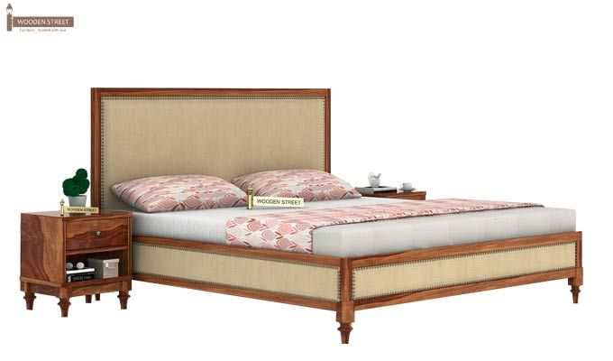 Winston Bed Without Storage (King Size, Teak Finish)-1