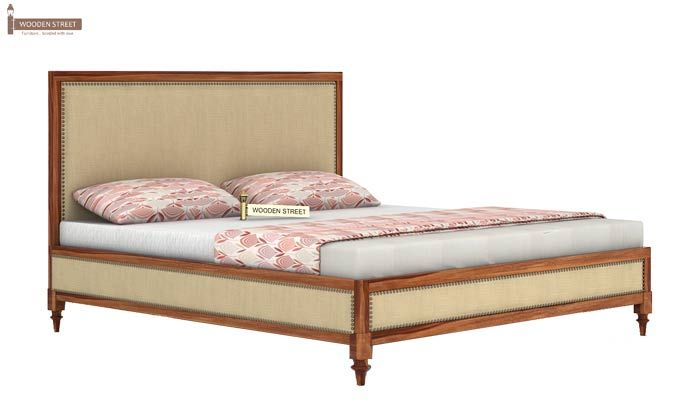Winston Bed Without Storage (King Size, Teak Finish)-3