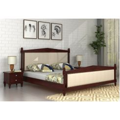 Wopper Bed Without Storage (King Size, Mahogany Finish)