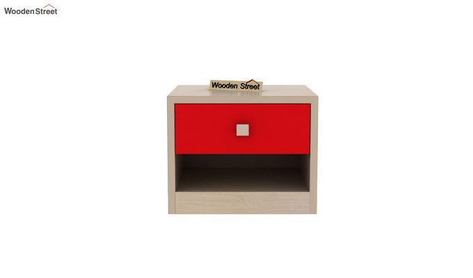 Marina Kids Bedside Table (Cardinal Red)-3