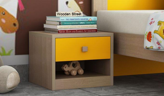 Marina Kids Bedside Table (Marigold Yellow)-1