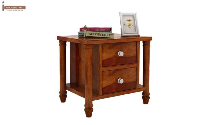 Ornat Bedside Table (Honey Finish)-2