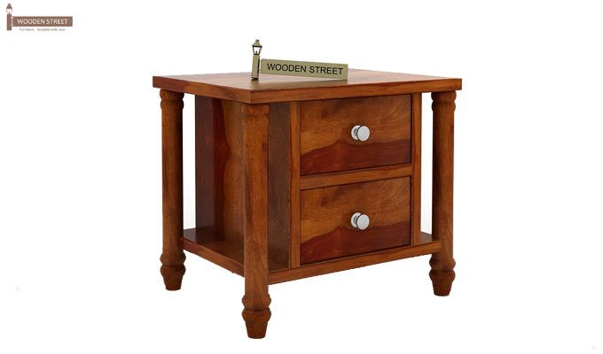 Ornat Bedside Table (Honey Finish)-4
