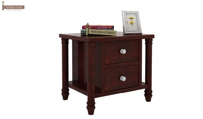Ornat Bedside Table (Mahogany Finish)-1