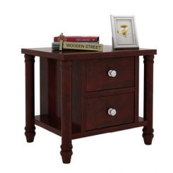 Ornat Bedside Table (Mahogany Finish)